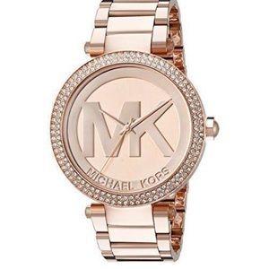 Michael Kors Stainless Medium 🌹 Gold Bling Watch